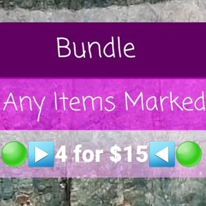 SALE! Get 4 items for $15